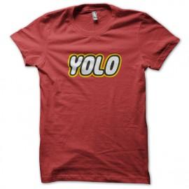 Tee Shirt YOLO lego rouge
