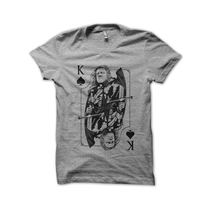 8080d3e7 shirt King card game of thrones gray