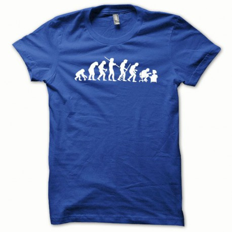 Tee shirt Evolution blanc/bleu royal