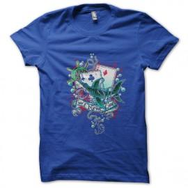 Tarjeta de la camisa del tiburón azul