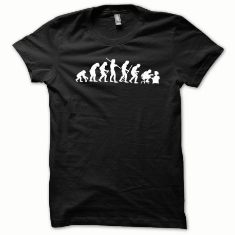 Tee shirt Evolution blanc/noir