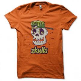 Tee SHirt Zkulls1 Orange