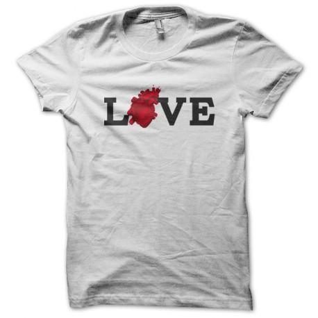 Tee Shirt Love heart White