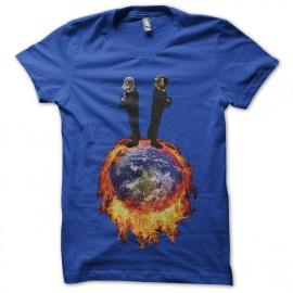 tee shirt daft punk enflamme la terre bleu