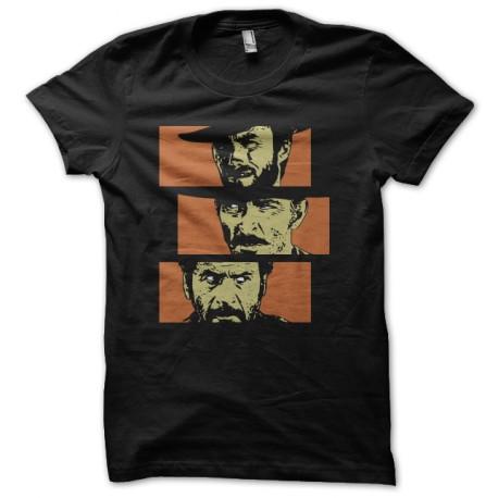 Tee shirt le bon la brute et le truand noir for Film noir t shirts