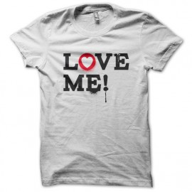 Tee Shirt LOVE ME blanc