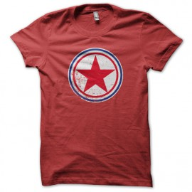 Tee Shirt coree du nord cocarde rouge