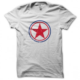 Tee Shirt coree du nord cocarde blanc