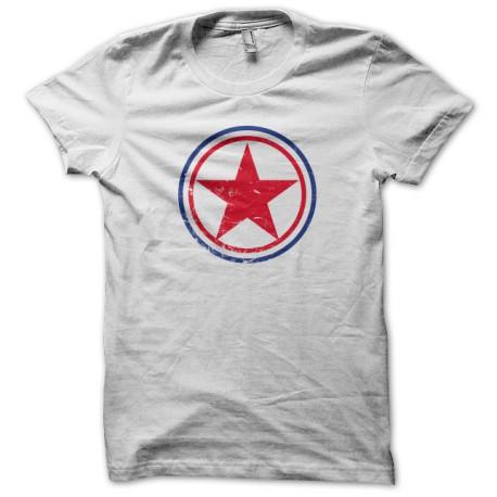 Tee Shirts Corea del Norte redondel blanco