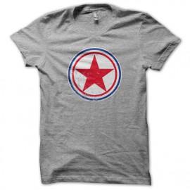 Tee Shirts Corea del Norte redondel gris