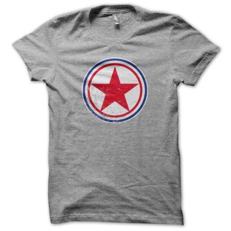 Tee Shirt north korea gray roundel