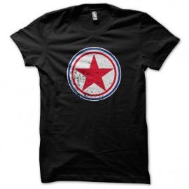 Tee Shirts Corea del Norte redondel negro