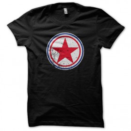 Tee Shirt north korea black roundel