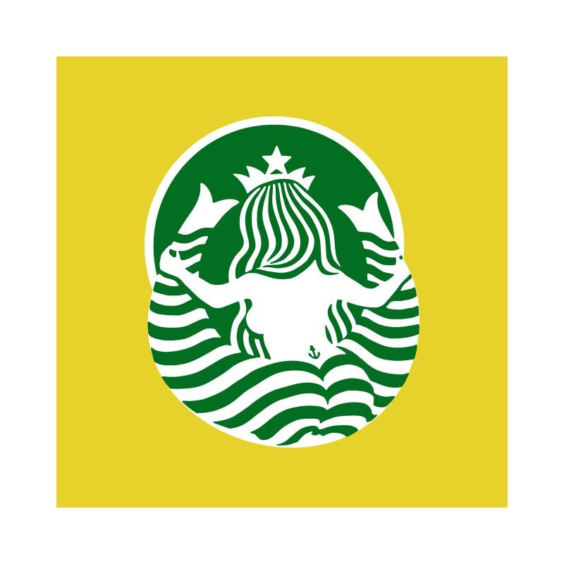 Starbucks Logo Tee Shirt Funny Yellow