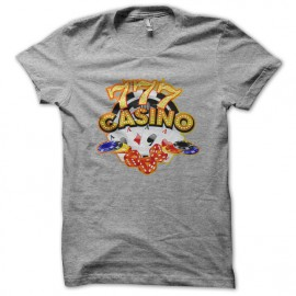tee shirt casino 777 grey