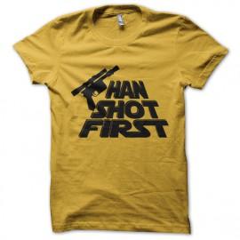 shirt han shot firts yellow