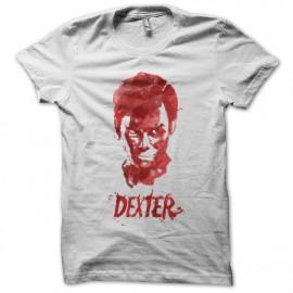 tee shirt dexter effets peinture blanc