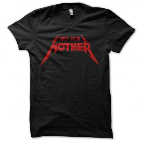 T-shirt Obey Your Mother Red on Black