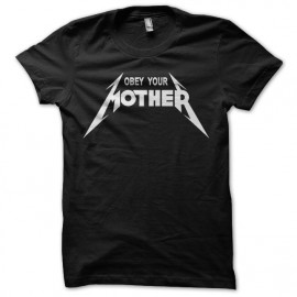 Tee Shirts Obey Your Mother Blanco sobre Negro