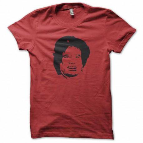 tee shirt che kadhafi rouge