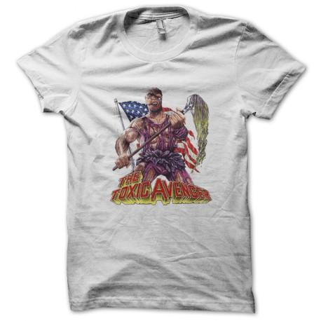 7621385c488 shirt Toxic Avenger Troma horror video white