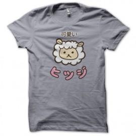 T-shirt gris ovejas de Kawaii