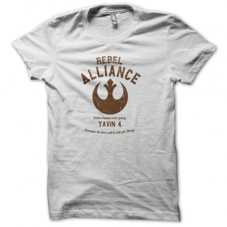 University Tee Shirt Rebel Alliance White
