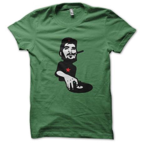 tee shirt che guevara au platine vert