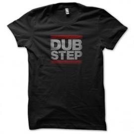 negro de la camiseta del dubstep