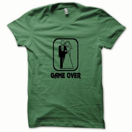 Tee shirt Game Over noir/vert bouteille