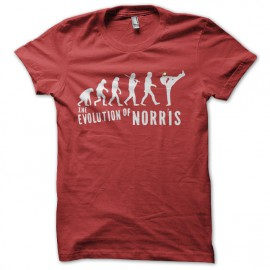 tee shirt evolution chuck norris rouge