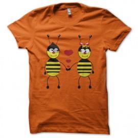 camisa naranja Amor de la abeja