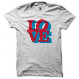 Tee Shirt big LOVE blanc