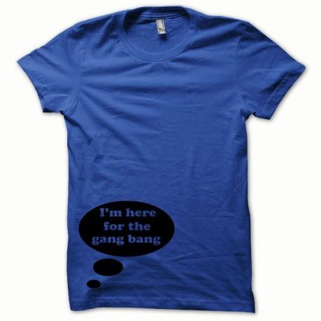 Tee shirt Gangbang noir/bleu royal