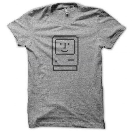 Tee Shirt Apple Macintosh 1984 gris