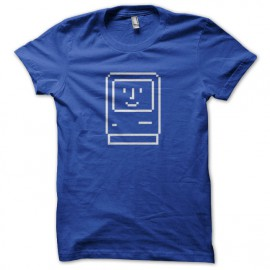 Tee Shirt Apple Macintosh 1984 bleu