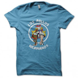Tee Shirt  Los Pollos Hermanos bleu ciel