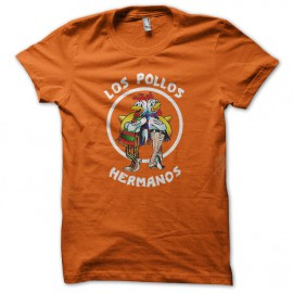 Tee Shirt  Los Pollos Hermanos Orange