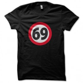 Tee shirt 69 soixante neuf NOIR