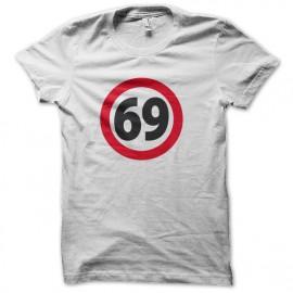 Tee shirt 69 soixante neuf BLANC