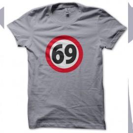 Tee shirt 69 soixante neuf GRIS
