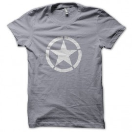 Tee Shirt Cocarde US Star Gris