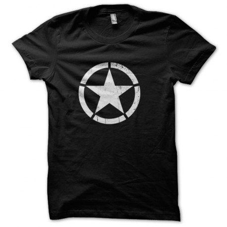 Tee Shirt Cocarde US Star Noir