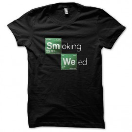 Tee Shirts Negro BRBA fumar marihuana