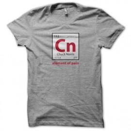 Tee Shirts Chuck Norris elemento de pan gris
