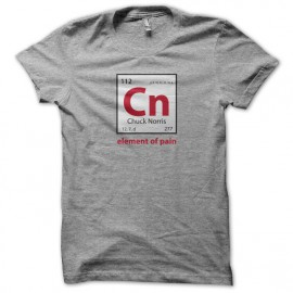 Tee Shirt Chuck norris element of pain gris