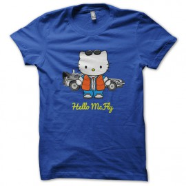 camiseta azul hola mcfly