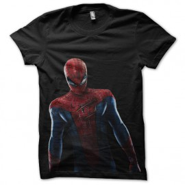 camisa de color negro hombre araña
