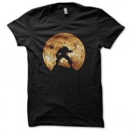 Wolverine camisa de la luna llena sombra plano trasero negro