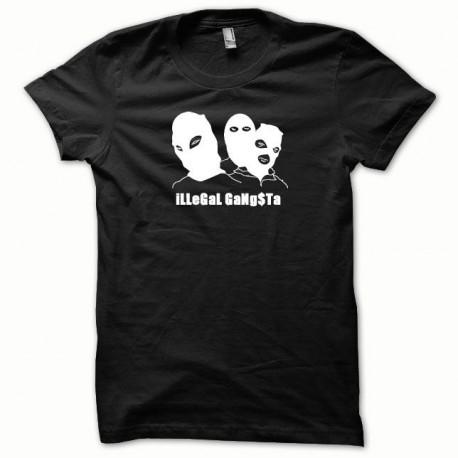 Tee shirt Illegal Gangsta blanc/noir